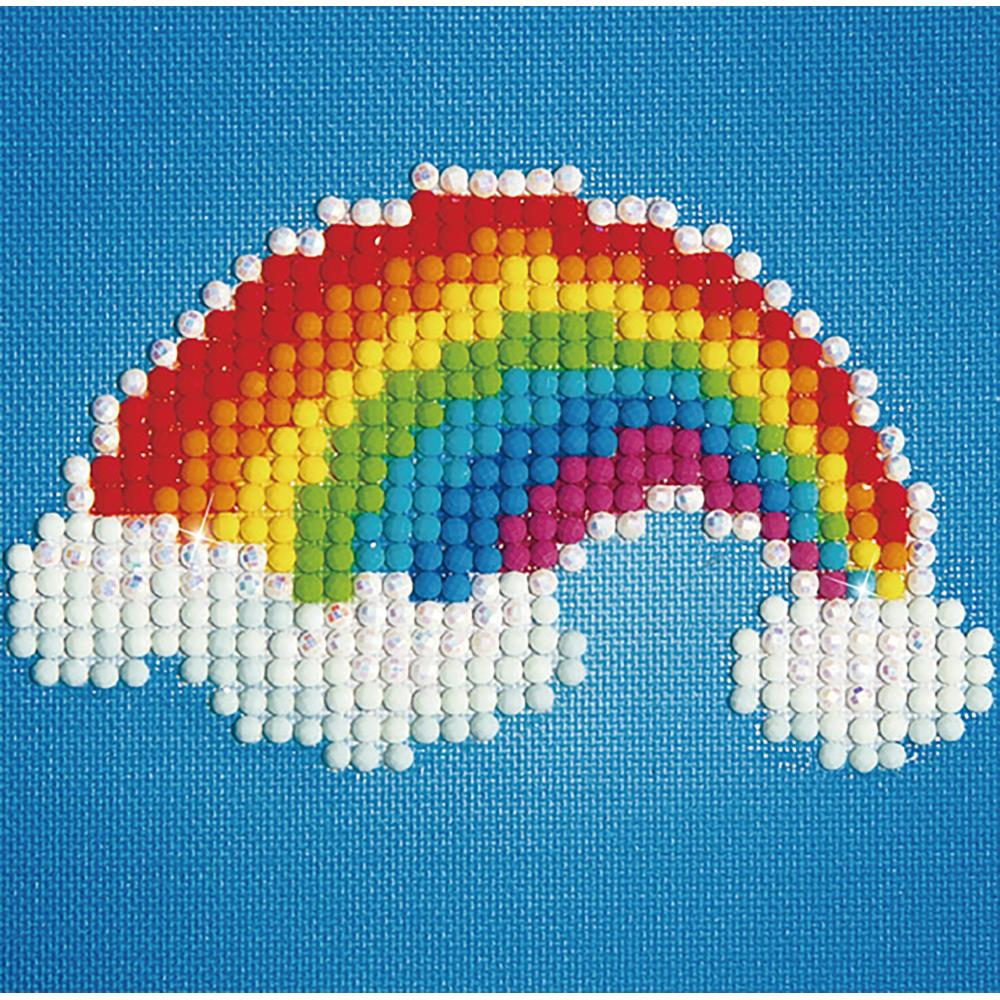 Diamond Dotz Diamond Embroidery Facet Art Kit W/ Frame Ever Living Rainbow W/ White Frame