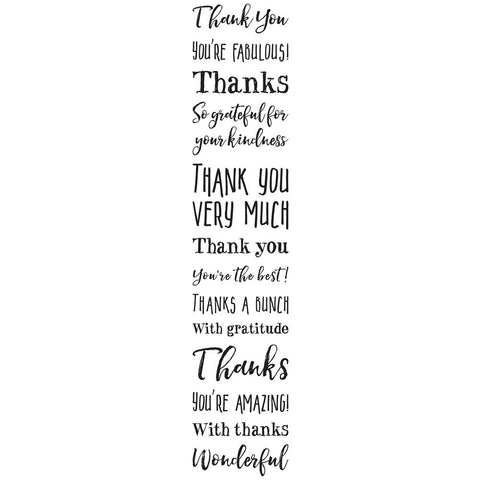 Darkroom Door Cling Stamp 7 inch X1.5 inch Thank You