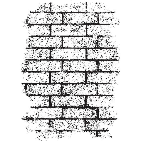 Darkroom Door Texture Cling Stamp 3 inch X2 inch Brick Wall