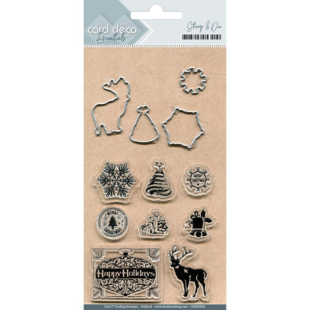Find It Trading Card Deco Stamp & Die Set Happy Holidays