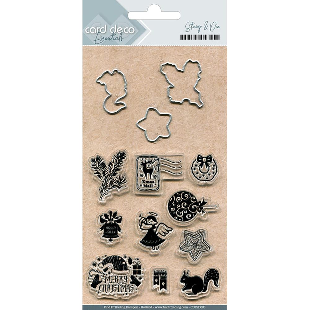 Find It Trading Card Deco Stamp & Die Set Holly Jolly