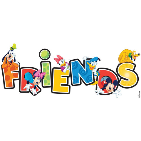 Disney Title Dimensional Stickers Mickey - Friends