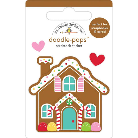 Doodlebug Doodle-Pops 3D Stickers Cookie Cottage, Christmas Magic