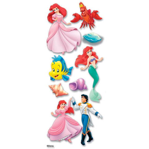 Disney Dimensional Stickers Little Mermaid