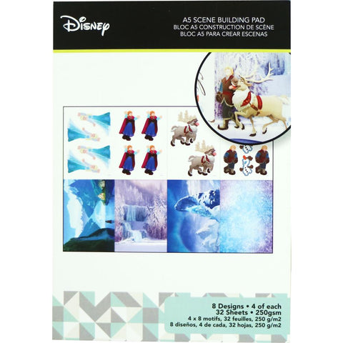 Disney A5 Scene Building Pad 32 pack Frozen, 8 Designs/4 Each