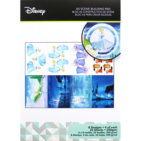 Disney A5 Scene Building Pad 32 pack Cinderella, 8 Designs/4 Each