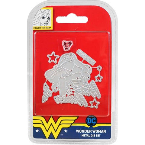 DC Comics Wonder Woman Die and Face Stamp Set