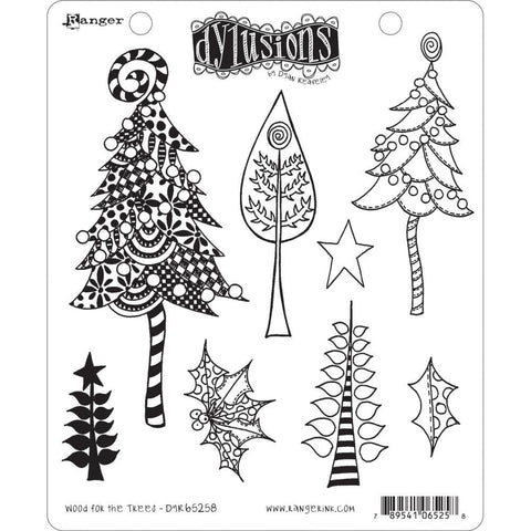 Dyan Reaveleys Dylusions Cling Stamp Collections 8.5inch X7inch - Wood For The Trees