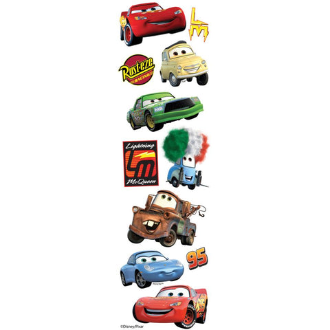 Disney Slims Dimensional Stickers Cars
