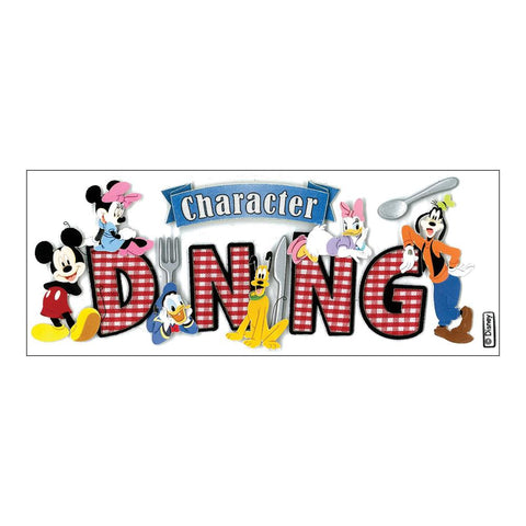 Disney Title Dimensional Stickers Mickey - Character Dining