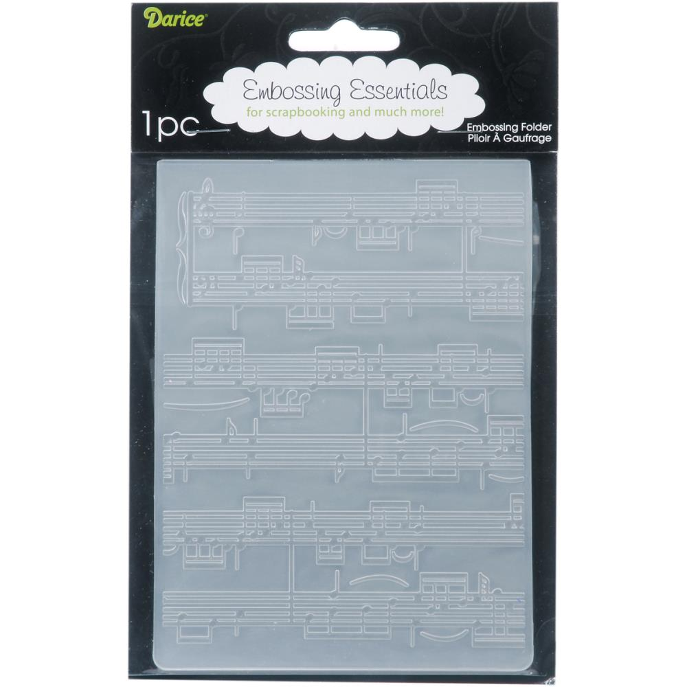 Darice - Embossing Folder 4.25X5.75 Sheet Music