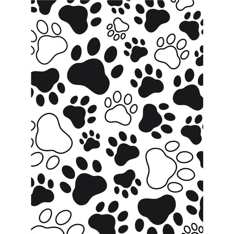 Darice - Embossing Folder 4.25X5.75 Paw Print Background