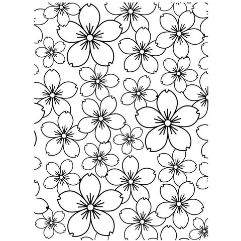 Embossing Folder 4.25X5.75 Cherry Blossom