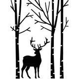 Darice - Embossing Folder 4.25 inch X5.75 inch - Deer In Forest