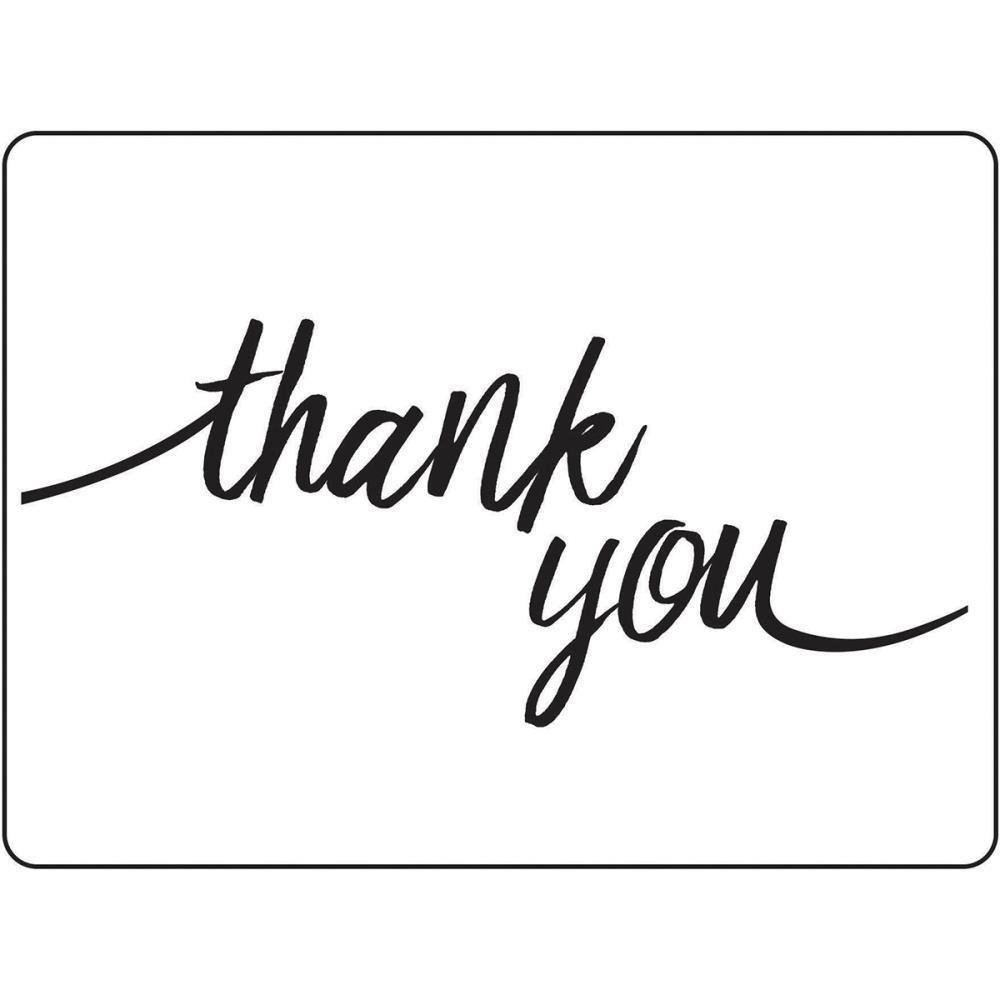 Embossing Folder 4.25X5.75 Thank You