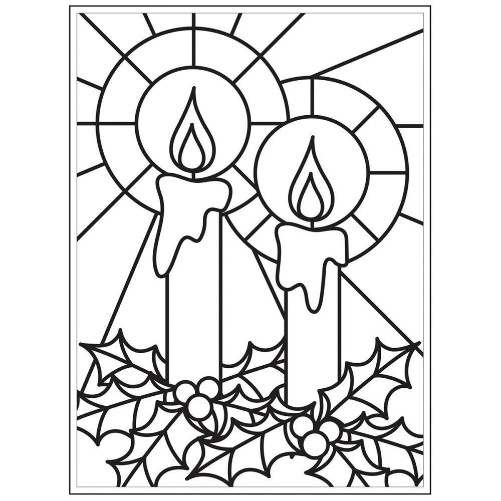 Darice - Embossing Folder 4.25 inch X5.75 inch - Mosaic Candles