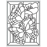 Darice Embossing Folder 4.25 inch X5.75 inch Mosaic Butterfly