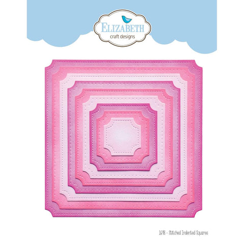 Elizabeth Craft Metal Die - Stitched Indented Square