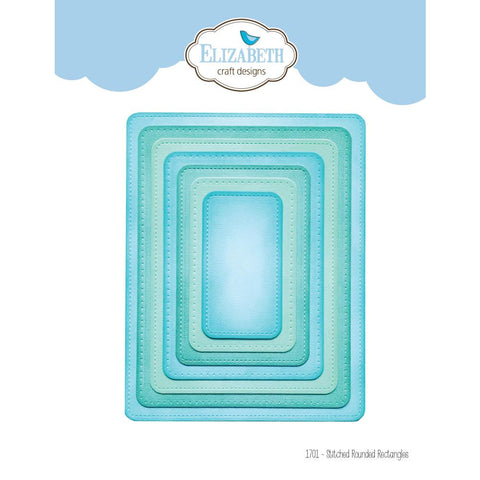 Elizabeth Craft Metal Die - Stitched Rounded Rectangle