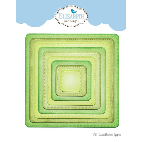 Elizabeth Craft Metal Die - Stitched Rounded Square