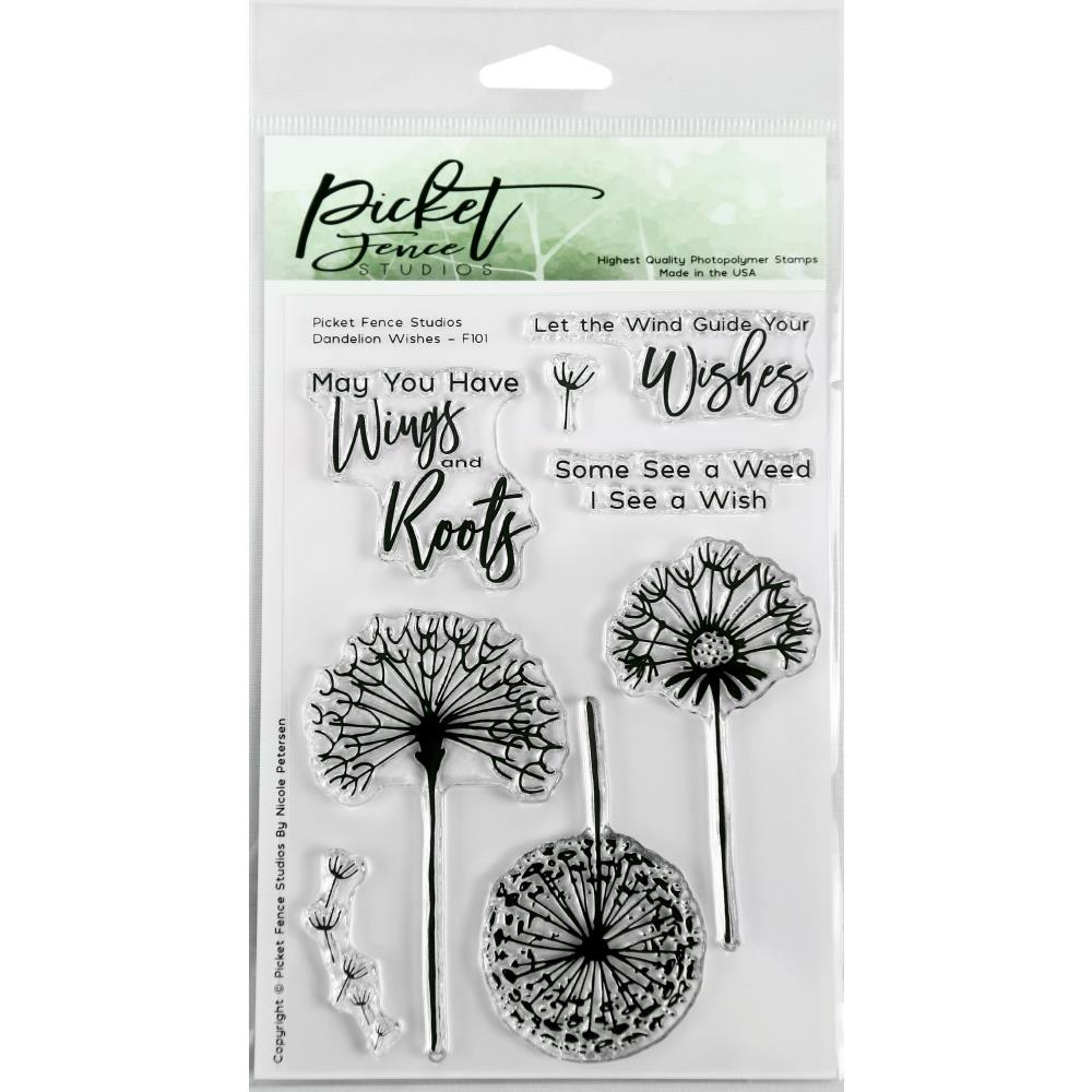 Picket Fence Studios 4X6 Stamp Set Dandelion Wishes