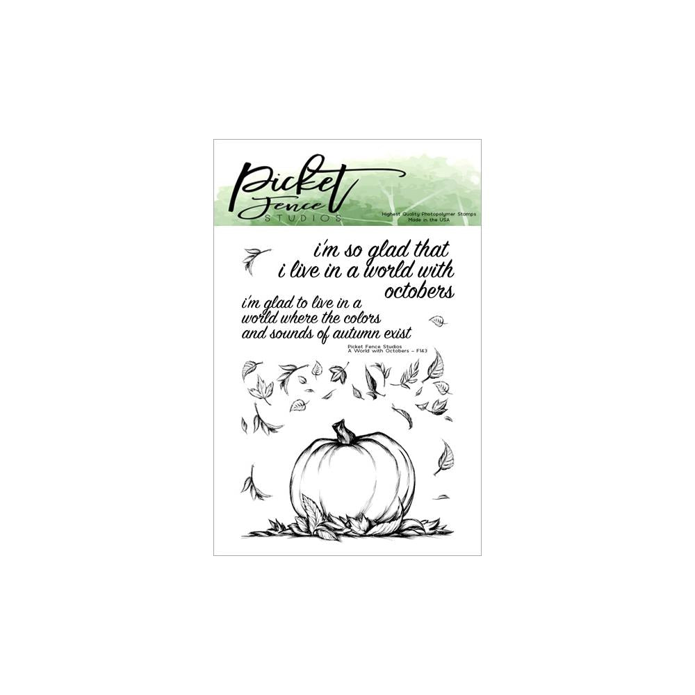 Picket Fence Studios 3X4 Stamp Set A World Of Octobers