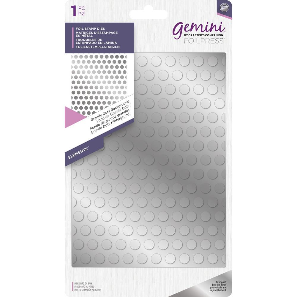 Crafters Companion - Gemini - Foilpress Stamp Die Elements Grande Dots Background