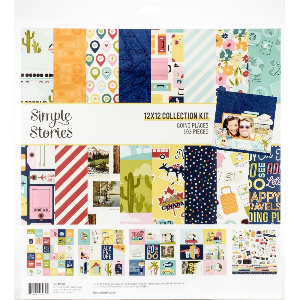 Simple Stories Collection Kit 12X12 Going Places