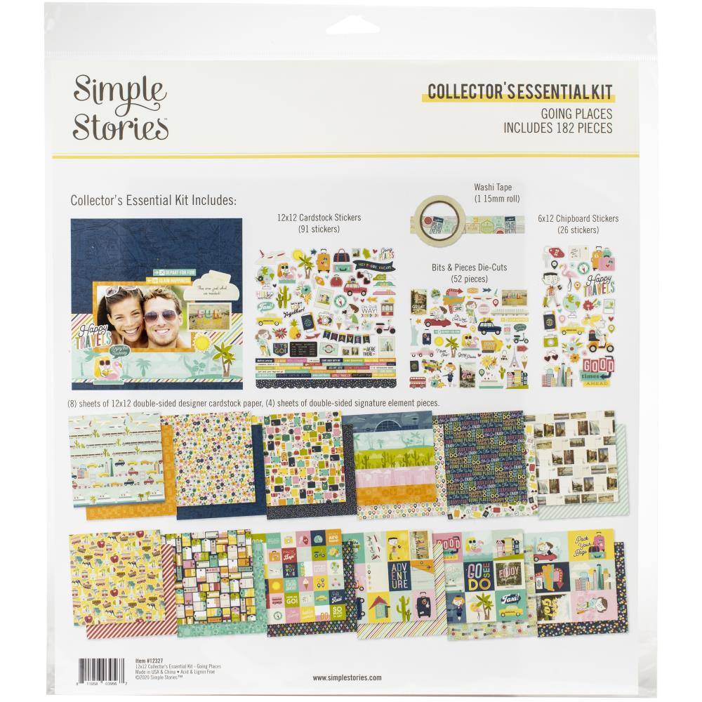 Simple Stories Collectors Essential Kit 12X12 Going Places