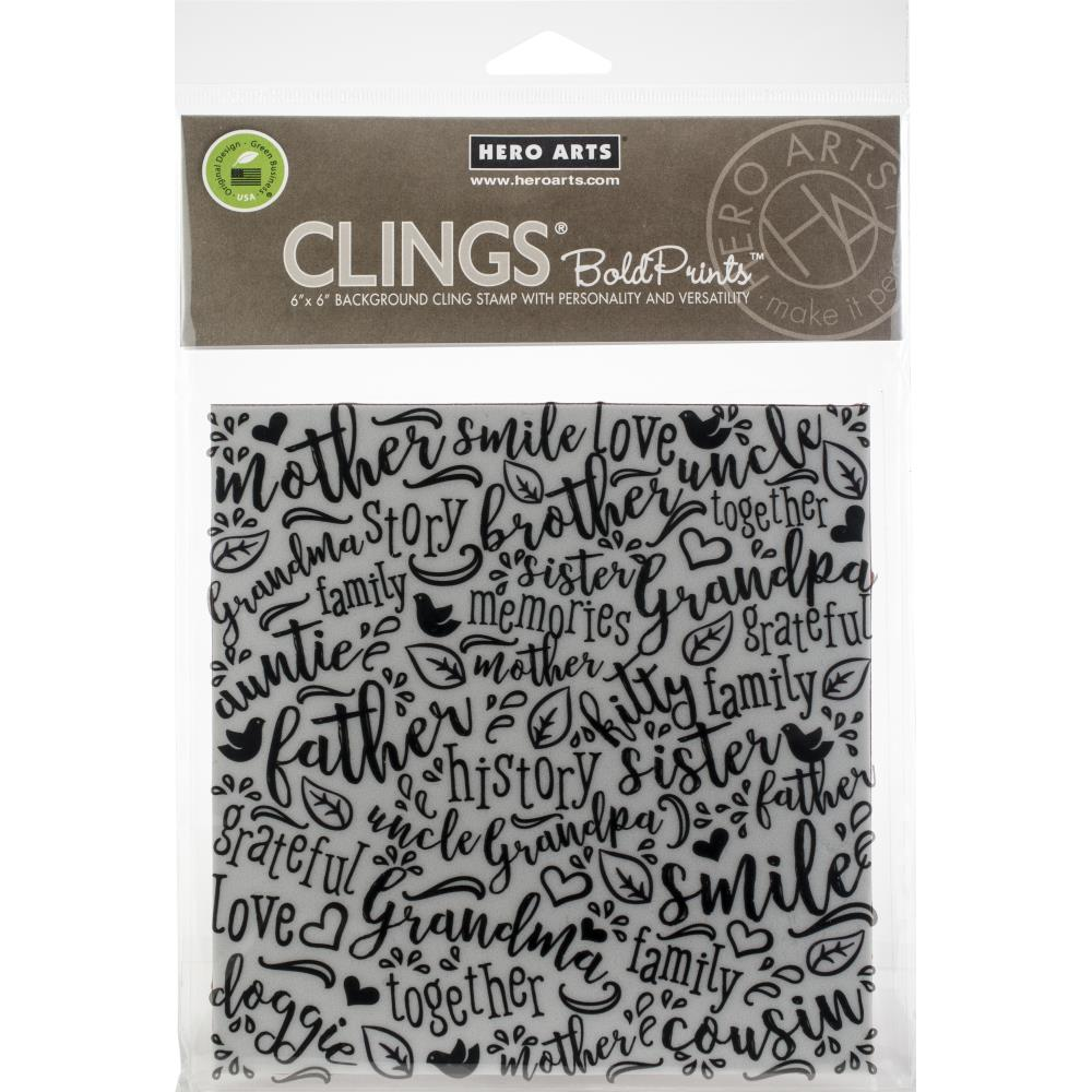 Hero Arts Cling Stamps 6X6 Family Word