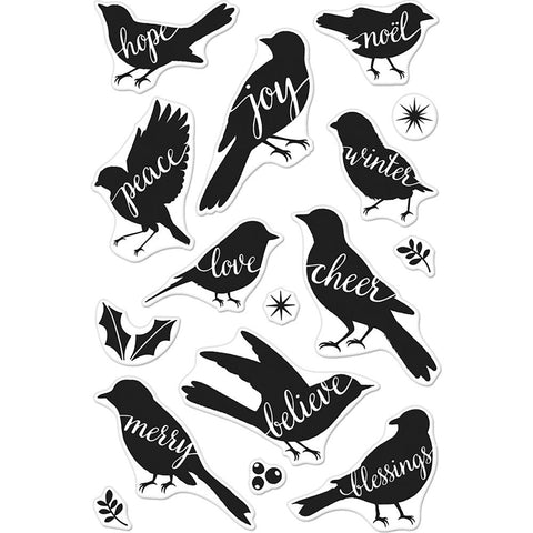 Hero Arts Clear Stamps 4 inch X6 inch - Bird Words