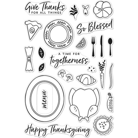 Hero Arts Clear Stamps 4 inch X6 inch - Thanksgiving Table