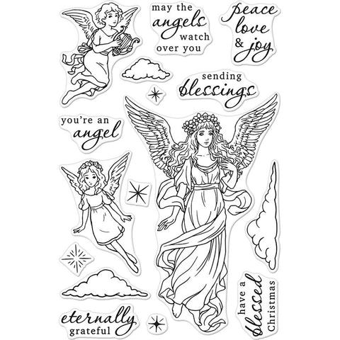 Hero Arts Clear Stamps 4 inch X6 inch - Angels
