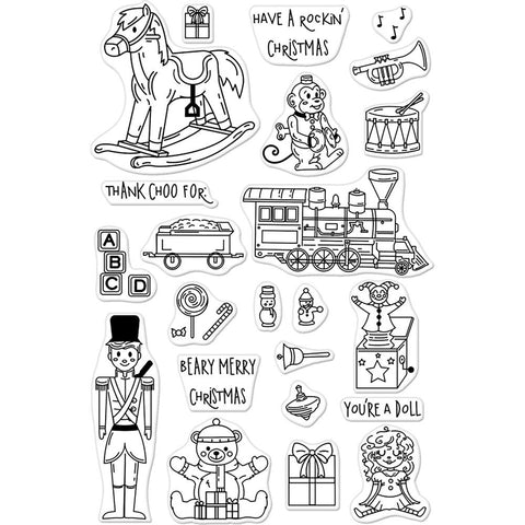 Hero Arts Clear Stamps 4 inch X6 inch Christmas Toys