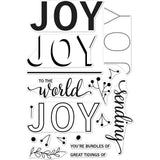 Hero Arts Clear Stamps 4 inch X6 inch - Color Layering Joy Message