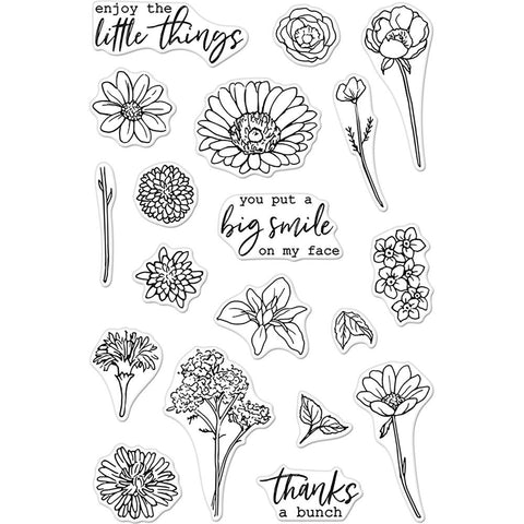 Hero Arts Clear Stamps 4 inch X6 inch - Little Florals