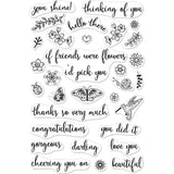 Hero Arts Clear Stamps 4 inch X6 inch Summer Garden