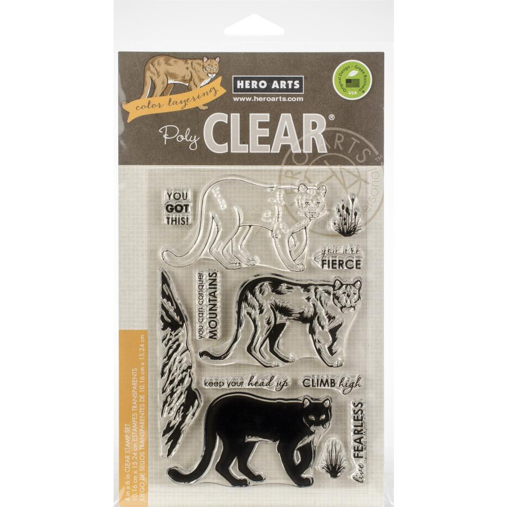 Hero Arts Color Layering Clear Stamps 4X6 Mountain Lion