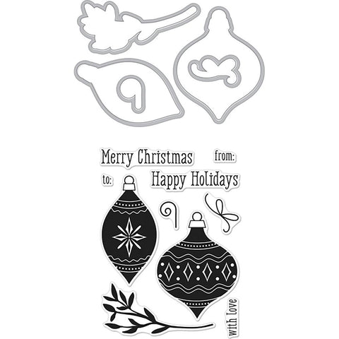Hero Arts Stamp & Cut Holiday Ornaments