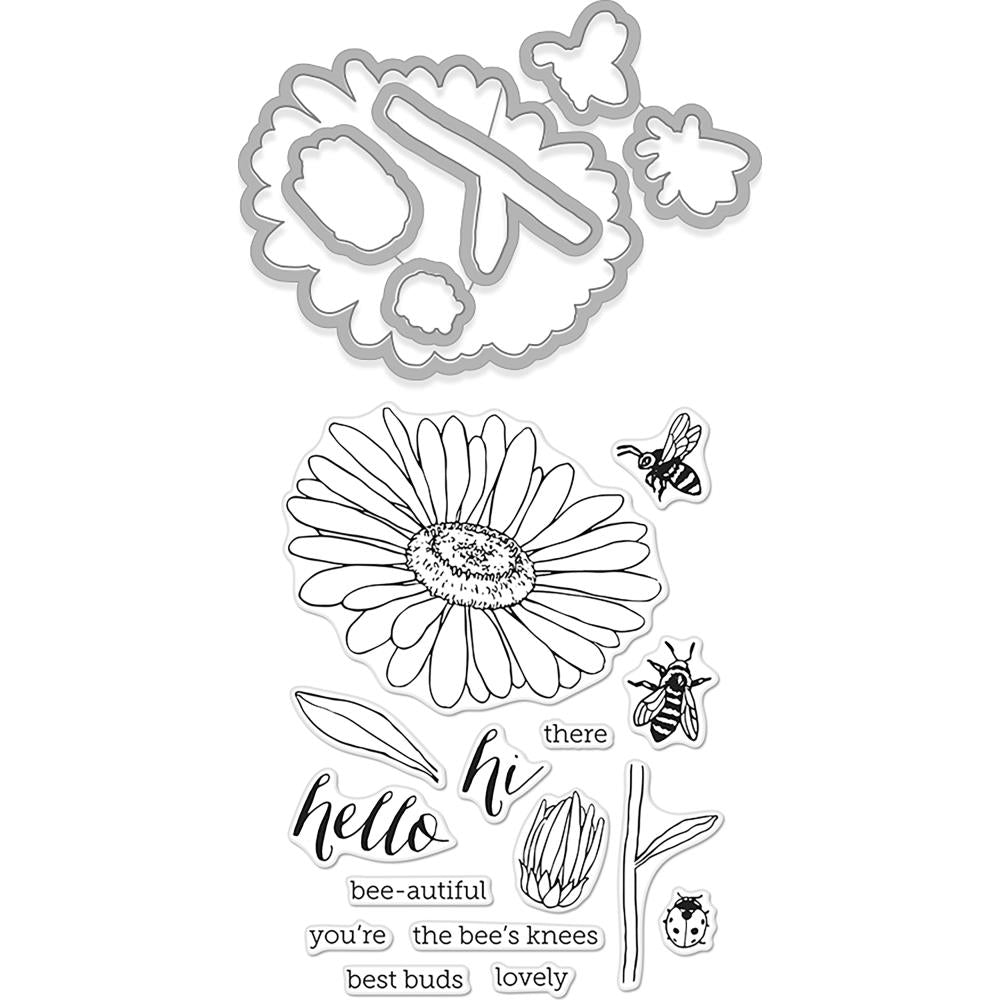 Hero Arts Stamp & Cut Daisy & Bugs