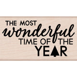 Hero Arts Mounted Rubber Stamp 3.25 inch X1.75 inch Most Wonderful Time