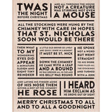 Hero Arts Mounted Rubber Stamp 5.75 inch X4.5 inch Christmas Poster Background