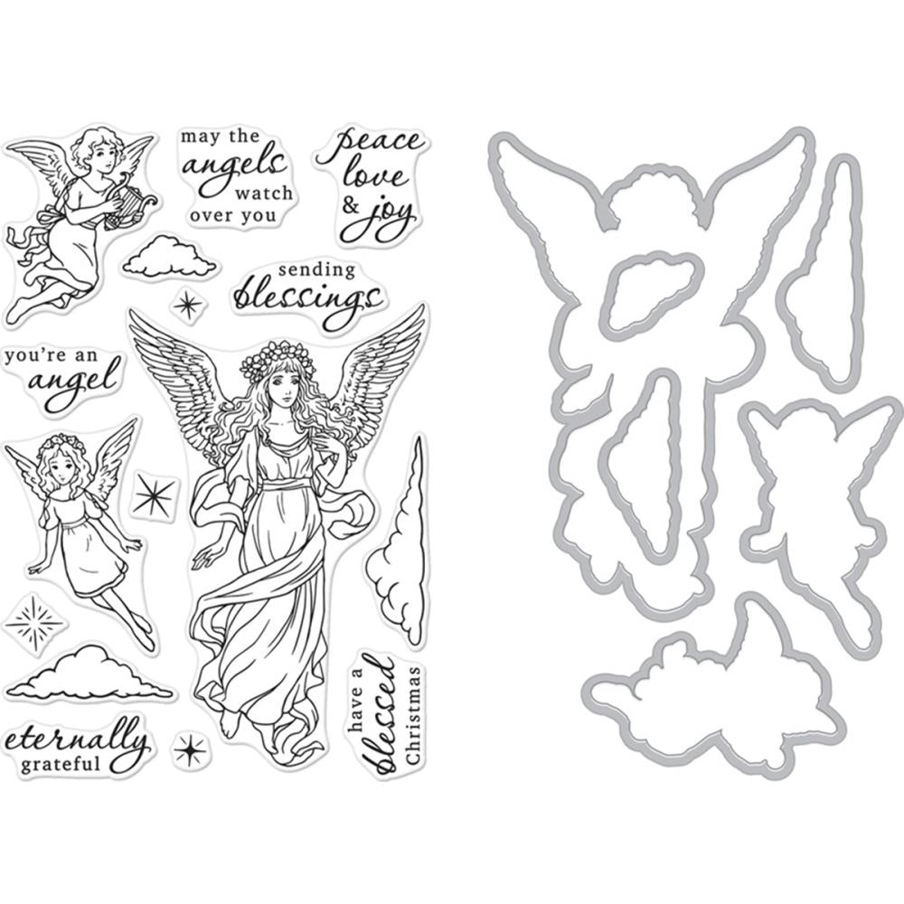 Hero Arts Clear Stamp & Die Combo Angels