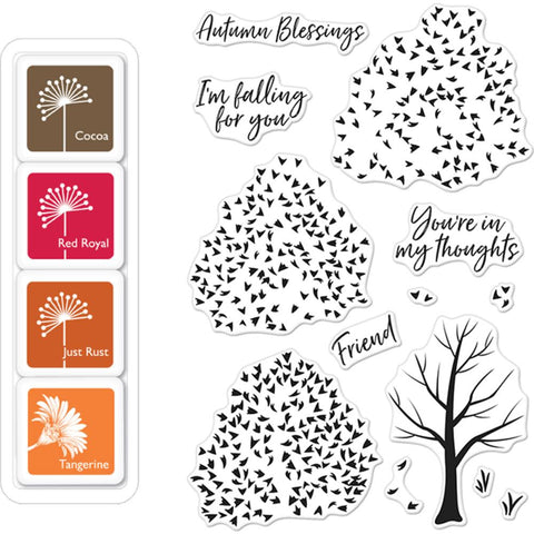 Hero Arts Clear layering Stamp bundle Autumn Trees