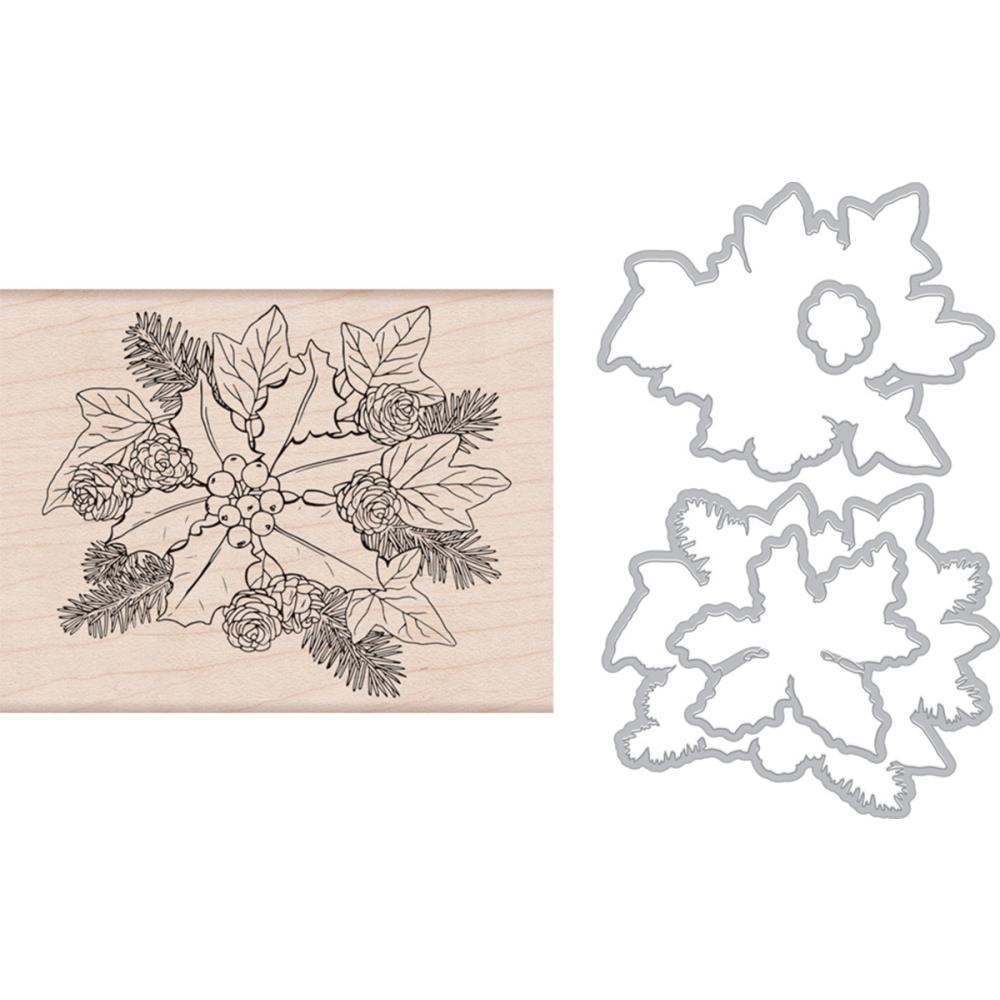 Hero Arts Clear Stamp & Die Combo The Holly & The Ivy