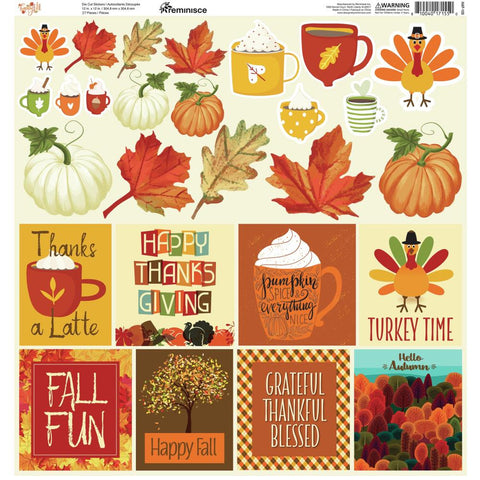 Reminisce Custom Cardstock Stickers 12X12 Happy Fall