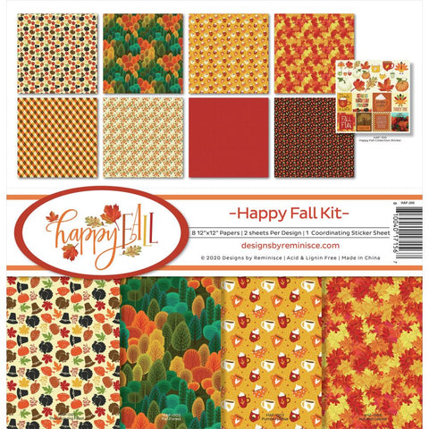 Reminisce Collection Kit 12X12 Happy Fall