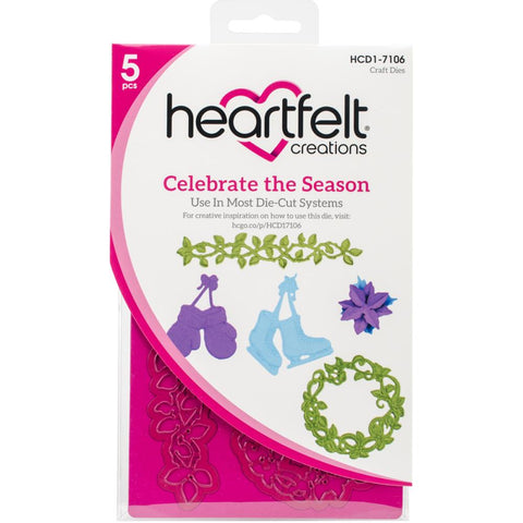 Heartfelt Creations Cut & Emboss Dies - Celebrate The Season .75 inch To 4.5 inch