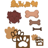 Heartfelt Creations Cut & Emboss Dies - Paw-Fect .5 inch To 2.5 inch