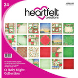 Heartfelt Creations Cling RubbeHeartfelt Creations Double-Sided Paper Pad 12X12 24/Pkg O Holy Night, 12 Designs/2 Each Stamp Set 5:X6.5 Noel Sentiments
